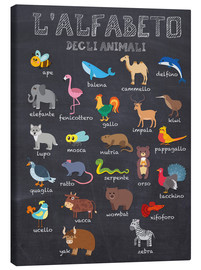 Obraz na płótnie  Alphabet of Animals (Italian) - Kidz Collection