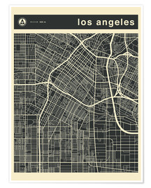 Plakat  Los Angeles City map - Jazzberry Blue