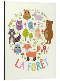 Obraz na aluminium  The Forest (French) - Kidz Collection