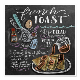 Plakat  French toast recipe - Lily & Val