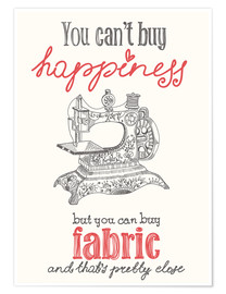 Plakat  Sewing is happiness - Typobox