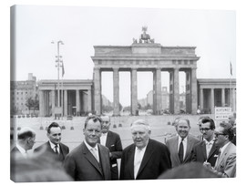 Obraz na płótnie  Ludwig Erhard and Willy Brandt