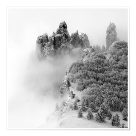 Plakat Mountains in the fog