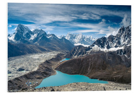 Obraz na PCV  Mountains with lake in the Himalayas, Nepal