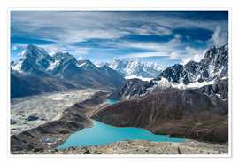Plakat  Mountains with lake in the Himalayas, Nepal