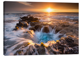 Obraz na płótnie  Pools of Paradise during Sunset at the Coast of Hawaii (Big Island) - Markus Ulrich