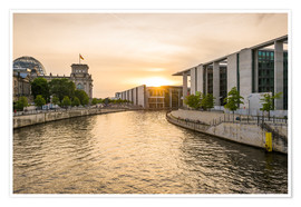 Plakat Sunset at the Reichstag in Berlin