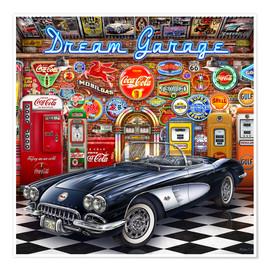 Plakat Dream Garage