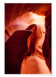 Plakat  Formation in Canyon X slot canyon, Page, Arizona, USA - Peter Wey