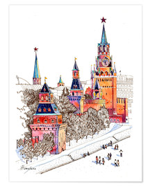 Plakat Kremlin, Red Square, Moscow