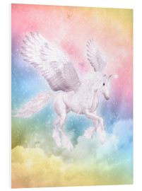 Obraz na PCV  Unicorn Pegasus, big dreams - Dolphins DreamDesign