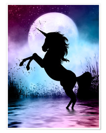 Plakat  Unicorn Magic - Dolphins DreamDesign