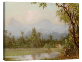 Obraz na płótnie  South American scene with a farm - Martin Johnson Heade