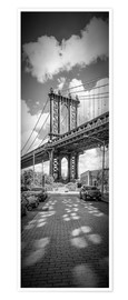 Plakat NEW YORK CITY Manhattan Bridge Panorama
