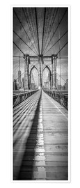 Plakat NEW YORK CITY Brooklyn Bridge Panorama