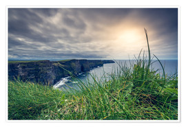 Plakat View over the cliffs of Moher, Ireland