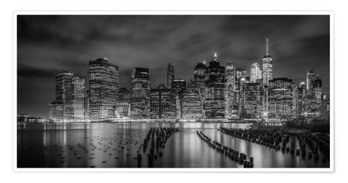 Plakat NEW YORK CITY Idyllic Impressions at night