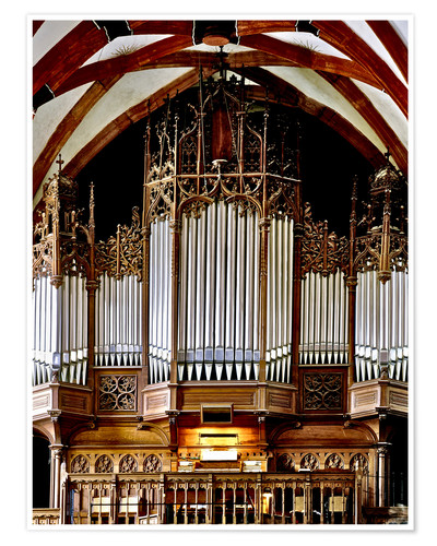 Plakat Organ in St. Thomas Church, Leipzig music trail