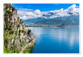 Plakat Summer view over Lake Garda