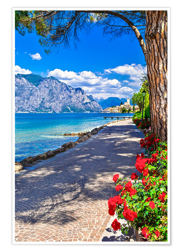 Plakat Beautiful Lago di Garda, Italy