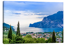 Obraz na płótnie  View of Riva Del Garda and Lake Garda, Italy