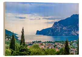 Obraz na drewnie  View of Riva Del Garda and Lake Garda, Italy