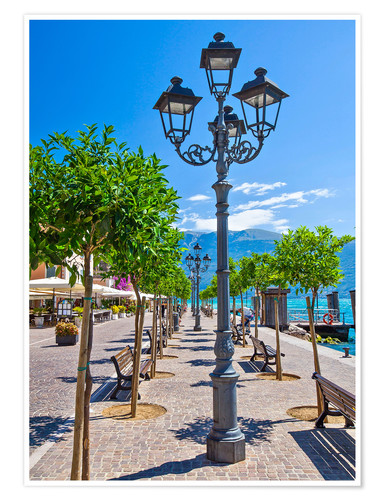 Plakat Village of Gargnano, Lake Garda Italy