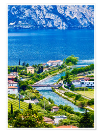 Plakat View of Lake Garda in Northern Italy
