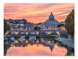 Plakat Rome in the evening