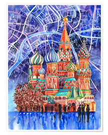Plakat Red Square, Moscow, Russia