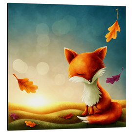 Obraz na aluminium  Little red fox - Elena Schweitzer