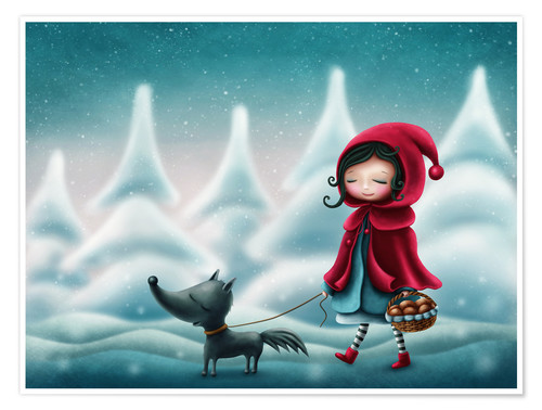 Plakat Little red riding hood and the wolf