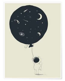 Plakat Space balloon
