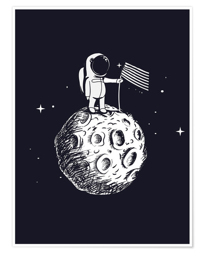Plakat The first man on the moon