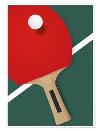 Plakat Table tennis - minimalist