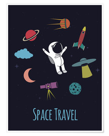 Plakat Space Travel Kid