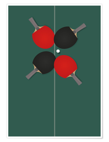 Plakat Table tennis