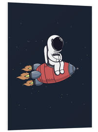 Obraz na PCV  Little astronaut with rocket - Kidz Collection