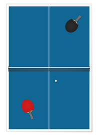 Plakat Table tennis match