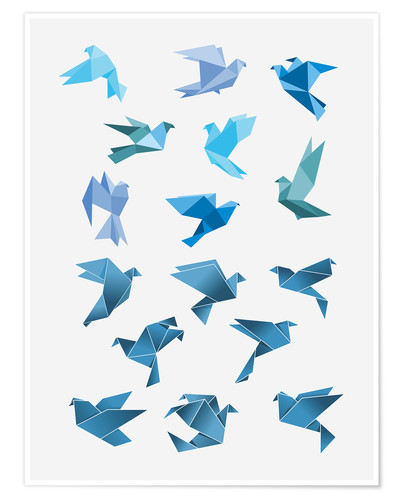 Plakat Origami Peace Doves