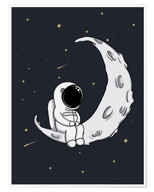 Plakat Little man on the Moon