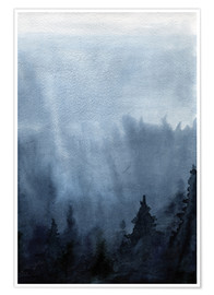Plakat Mist over the forest