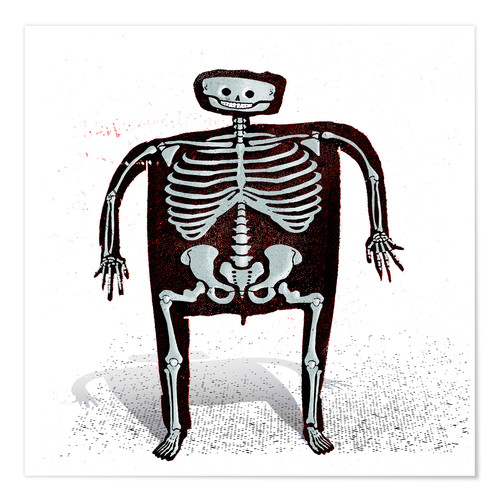 Plakat skeleton