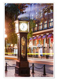 Plakat Steam clock in Gastown, Vancouver, Canada