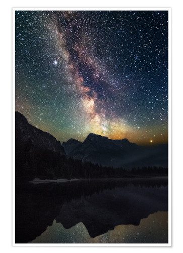 Plakat Milky Way over the mountains