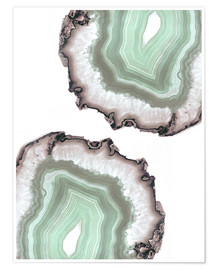 Plakat Light water agate