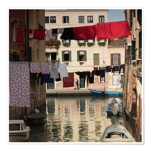 Plakat Washing lines in Venice, Italy