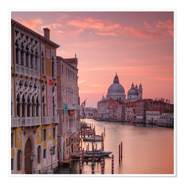 Plakat Venice and the grand Canal at sunrise
