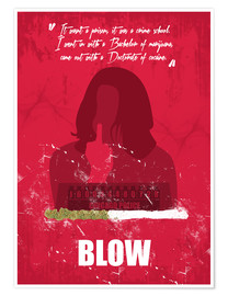 Plakat Blow - Minimal Alternative Movie Fanart