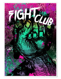 Plakat Fight Club - Minimal alternative movie fanart #1